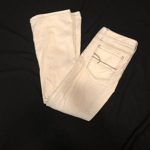 American Eagle skinny flare cord white/cream NEW